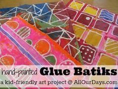 Elmer's Glue Gel Batiks: kid-friendly #art project  - #kidsart