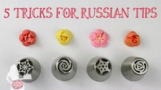 In this cake decorating tutorial I demonstrate 5 tricks for Russian tips (also called flower piping tips or flower nozzles), taking you through each stage of. Russian Cake Decorating Tips, Cake Decorating Techniques, Cake Decorating Tutorials, Decorating Ideas, Decor Ideas, Russian Icing Tips, Russian Cakes, Frost Cupcakes, Decorate Cupcakes