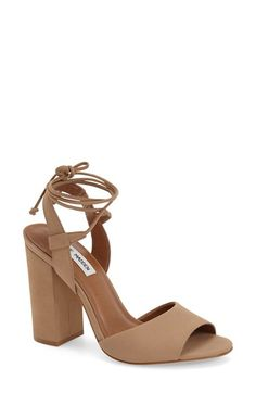 Steve Madden 'Serrina' Block Heel Lace Up Sandal (Women) available at #Nordstrom