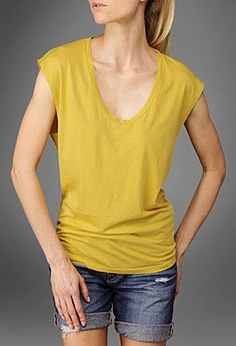 Ag Jeans Golden the Sleeveless Tee with Cb Tape Golden T Shirt