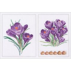 "Crocus Panel On Aida Counted Cross Stitch Kit-14""X8.75"" 18 Count"