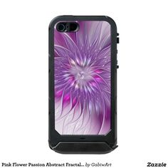 Pink Flower Passion Abstract Fractal Art Waterproof iPhone SE/5/5s Case