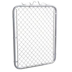 4-ft x 3-ft 6-in Uncoated Galvanized Steel Chain-Link Walk Gate