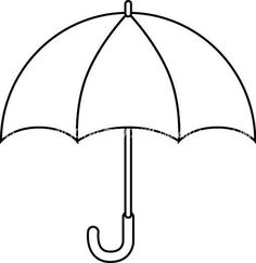 Drawing to print, an umbrella - All Diseases Easy Coloring Pages, Coloring For Kids, Coloring Books, Umbrella Template, Bird Template, Art Drawings For Kids, Drawing For Kids, Hedgehog Craft, Hello Kitty Coloring