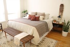 midcentury-ish | one room three ways with Anthropologie