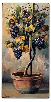Виноград Grape Painting, Fruits Photos, Bunny Art, Decoupage Paper, All Art, Painting & Drawing, Wall Murals, Tropical, Drawings