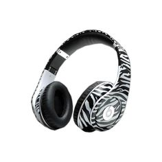 Monster Beats By Dre Studio Zebra Headphones ❤ liked on Polyvore featuring accessories, electronics, headphones, music and phones
