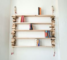 Blockshelf by Norwegian furniture designer and illustrator Amy Hunting