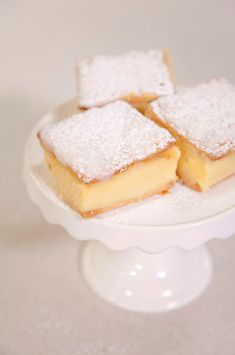 Vanilla custard slices!!! Made with cream crackers and custard powder - My favourite childhood treat!