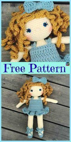 8 Cuest Crochet Doll Amigurumi Free Patterns
