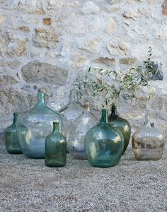 Beautiful Vintage Demijohns, love to own 1 or 100!
