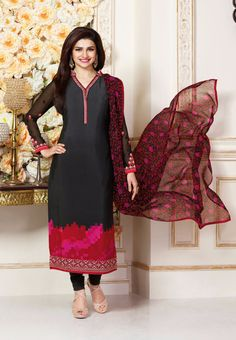 #Silkina Royal #Crepe #SalwarKameez Vol4 3487 #Grey
