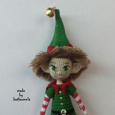 кукла амигуруми крючком Elf, Christmas Ornaments, Holiday Decor, Crochet, Witch, Amigurumi, Puppets, Christmas, Christmas Jewelry