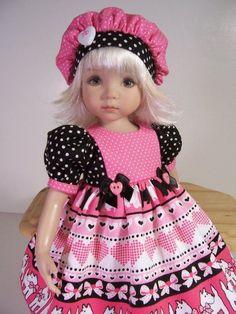 """Valentine Scotties"" Made for 13"" Effner Little Darling ~ by TDDesigns"