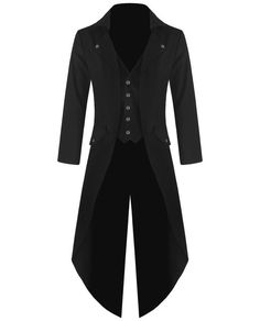 Banned Mens Steampunk Tailcoat Jacket Black Gothic  Victorian Coat #Klassich #OtherJackets