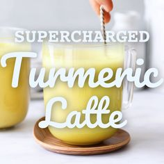 Supercharged Turmeric MCT Latte What do you get when you combine coconut milk, almond milk, Organic MCT Oil, turmeric, ginger and c Coconut Drinks, Coconut Milk Recipes, Tea Recipes, Smoothie Recipes, Coconut Milk Latte Recipe, Coconut Water, Tumeric Latte Recipe, Coconut Milk Benefits, Mct Oil Benefits