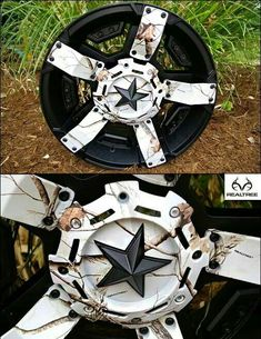Camo Rims | REALTREE Snow Camo rims. I really really want these!! Baby love say I wont!!
