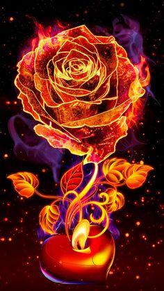 Beautiful Fantasy Art, Beautiful Gif, Dark Fantasy Art, Beautiful Roses, Cute Galaxy Wallpaper, Neon Wallpaper, Flower Wallpaper, Pretty Backgrounds, Pretty Wallpapers