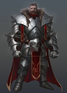 m Fighter Plate Armor Cloak male undercity Castle urban City lg Fantasy Character Design, Character Creation, Character Concept, Character Art, Fantasy Fighter, Fantasy Armor, Medieval Fantasy, Dungeons And Dragons Characters, Dnd Characters