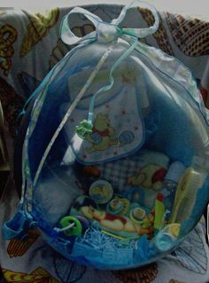 Baby Boy Disney Gift set stuffed inside a balloon. $45.00 We will be providing a detailed description of contents in each balloon.