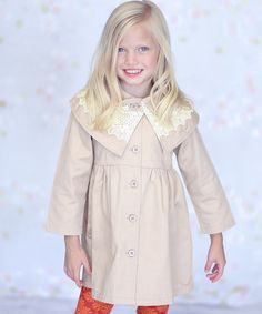 Look what I found on #zulily! Petals Tan Kelly Coat - Infant, Toddler & Girls by Jelly the Pug #zulilyfinds