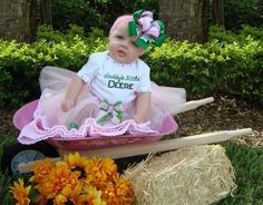 Daddy's Little Deere Tutu Set! This is soo cute! My daughter wants a farm theme bday party! How cute is this!! Be perfect!