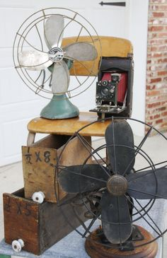 We had fans like these when I was a kid.  Mom told us not to stick our fingers in the blades - and we didn't.