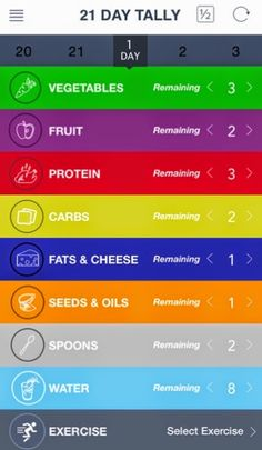 Keep things simple with the 21 Day Fix Tally app to track how many containers you've gone through.  Or check out the color coded meal plan I put together by visiting my blog.