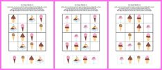 Ice Cream Sudoku - a free printable #sudoku game for young kids that's good enough to eat! #freeprintables    Gift of Curiosity