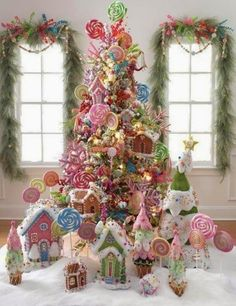Oh Pink Christmas tree! Oh Pink Christmas tree! We love this Pink Christmas Tree! If I lived in a house of all girls.the boys in my life would never go for it. Christmas Tree Themes, Noel Christmas, Primitive Christmas, Christmas Candy, Winter Christmas, Holiday Fun, Whimsical Christmas, Holiday Decorations, Family Holiday
