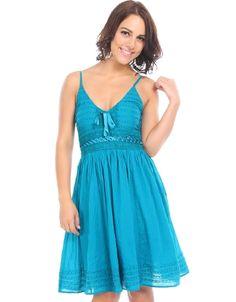 Beaded Wonders Dress Teal