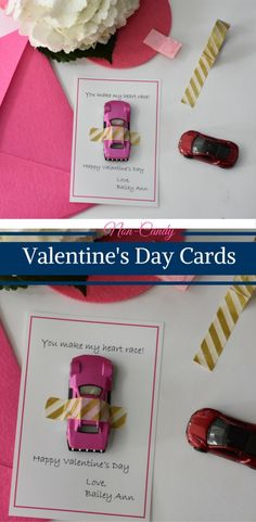 Four fun ideas for Non-Candy Valentine's Day Cards. From to light up bracelets, to lip gloss to crayons and race cards. Get these free printables today! Valentines Day Package, Valentines Day Treats, Valentine Day Love, Valentine Crafts, Valentine Day Cards, Valentine Ideas, Christmas Holidays, Happy Holidays, Happy Family