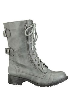 Lace up Double Buckle Combat Boot - maurices.com