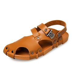 Sale 12% (23.99$) - Men Sandals Summer Casual Hole Slippers Beach Shoes