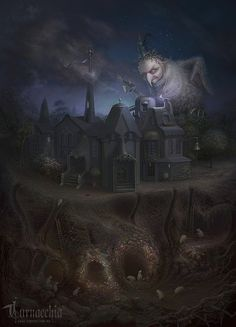 Spectacular Illustrations by Cornacchia- i love the fairytale feel of this image its so lovely and dark- It works well with the muted color palette