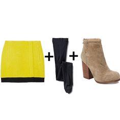 Miniskirt + Tights + Boot Combos