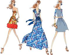 sketches of summer dresses :: Peter Som for @Anthropologie