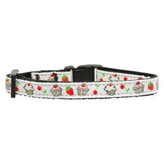 Mirage Pet Products Cupcakes Nylon Ribbon Collar for Cat, White -- You can find out more details at the link of the image. (This is an affiliate link and I receive a commission for the sales)