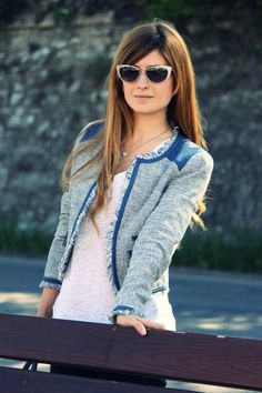 Lovely jacket..and sunglasses!