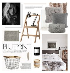 """""""Blueprint"""" by barngirl ❤ liked on Polyvore featuring interior, interiors, interior design, home, home decor, interior decorating, Barneys New York, Design House Stockholm, Luxo and Pottery Barn"""