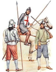 """The Irish Wars""   • English pikeman, 1578  • English light horse, 1578  • English caliverman, 1578"