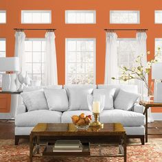 Paint Color From PPG - Paint Colors For DIYers & Professional Painters - Mary Hendricks Blue Paint Colors, Exterior Paint Colors, Grey Paint, Bedroom Wall Colors, Bedroom Color Schemes, Bedroom Ideas, Modigliani, Murs Oranges, Paint Visualizer