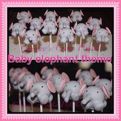 Baby elephant cake pops