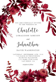 Indigo Flowers Invitation Template Customize Add Text And Photos Print Download Send Online For Free Invitations Printable Diy Wedding