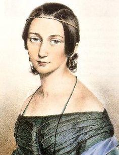 CLARA JOSEPHINE SCHUMANN (1819-1896), compositora alemã, escreveu cerca de 45 obras. Foi esposa de Robert Schumann. Grande pianista elogiada pelos mestres Brahms e Schumann, pela tecnica, tinha um repertorio ousado
