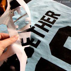 Shirts using freezer paper for stencil & fabric medium mixed w acrylic paint