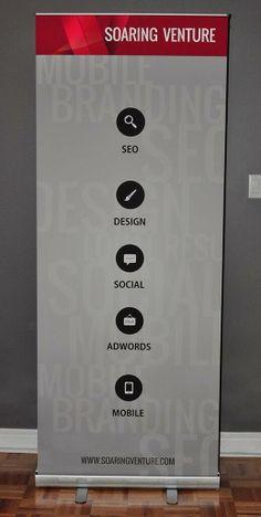 Soaring Venture Pull Up Banner In Stock - $99 Booklet Design, Brochure Design, Pull Up Banner Design, Advertising Design, Signage, Locker Storage, Display, Steamer, Banners