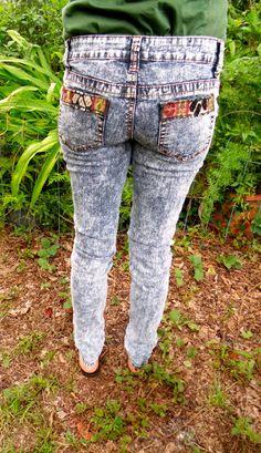 SALE Tribal Acid Wash Skinny Jeans Peru by ModifiedBotanicals