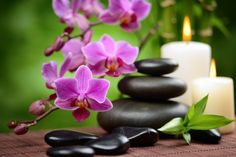 Zen Basalt Stones and Bamboo on the Wood Photographic Print by scorpp - Orchideen Massage Place, Good Massage, Facial Massage, Massage Room, Massage Chair, Massage Therapy, Casa Feng Shui, Getting A Massage, Gardening