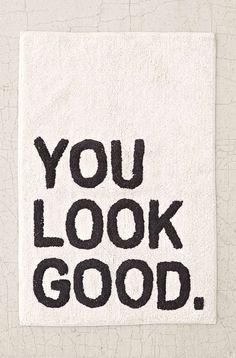 You Look Good Bath Mat #bathmat #homedecor